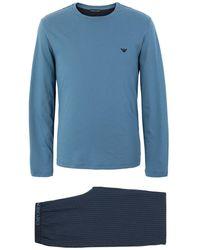 Emporio Armani Pyjama - Blau