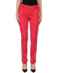 Armani Jeans Casual Trouser - Red