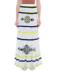 Clips Long Skirt - White