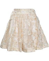 Zimmermann Mini Skirt - Natural