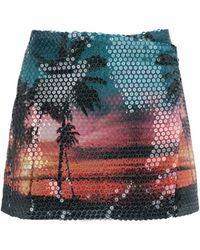 Laneus Tropical Print Mini Skirt