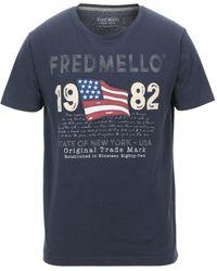 Fred Mello T-shirts - Blau