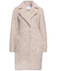 CafeNoir Teddy Coat - Natural
