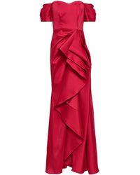 Badgley Mischka Vestido largo - Rojo
