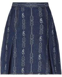 Tory Burch Denim Skirt - Blue