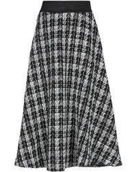 Brigitte Bardot 3/4 Length Skirt - Black