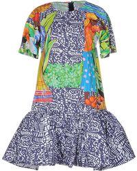 Stella Jean Short Dress - Blue