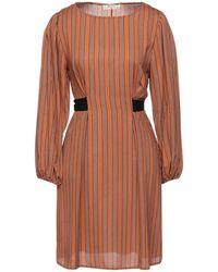 MEISÏE Short Dress - Brown