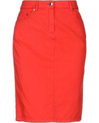 Paul & Shark Knee Length Skirt - Red