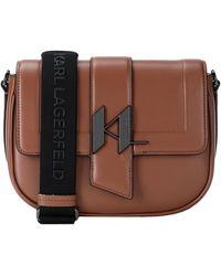 Karl Lagerfeld Cross-body Bag - Brown