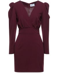 Berna Short Dress - Purple