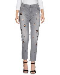 Twin Set Denim Trousers - Grey