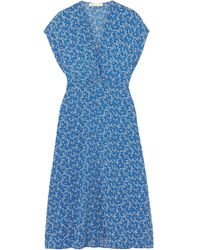 Vanessa Bruno Knielanges Kleid - Blau