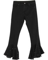 Ean 13 Denim Trousers - Black
