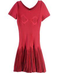 Alaïa Kurzes Kleid - Rot