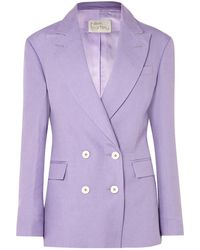 Hillier Bartley Suit Jacket - Purple