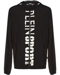 Philipp Plein Black Polyester Jacket