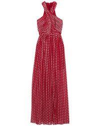 ML Monique Lhuillier Long Dress - Red