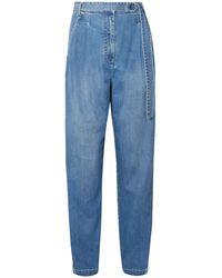 Tibi Denim Trousers - Blue