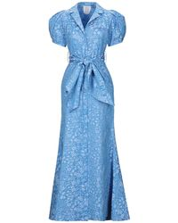 Rosie Assoulin Midi Dress - Blue