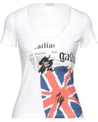 John Galliano Camiseta - Blanco
