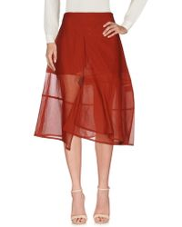 Roberta Furlanetto - 3/4 Length Skirt - Lyst