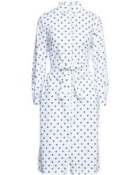 Massimo Alba Midi Dress - White