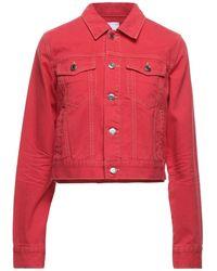 SJYP Denim Outerwear - Red