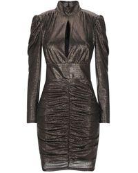 Forever Unique Short Dress - Metallic