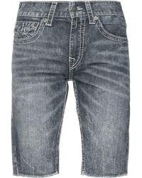 True Religion Shorts vaqueros - Azul