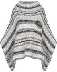 Brunello Cucinelli Cape - Grau
