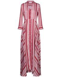 Aglini Long Dress - Pink