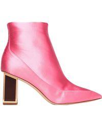 Diane von Furstenberg Ankle Boots - Pink