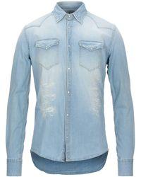 Aglini Camicia jeans - Blu