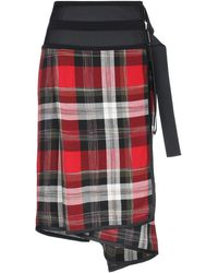 Public School Knee Length Skirt - Red