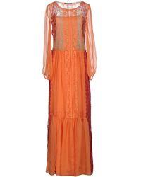 Alberta Ferretti Vestido largo - Naranja