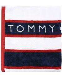 Tommy Hilfiger Serviette de plage - Blanc