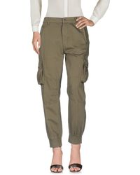 MY TWIN Twinset Casual Trouser - Green