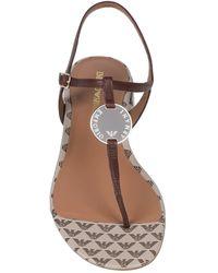Emporio Armani Toe Strap Sandal - Brown