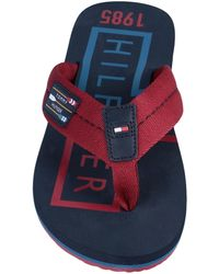 Tommy Hilfiger Toe Post Sandal - Red