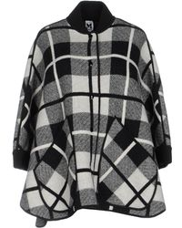 M Missoni - Checked Oversized Coat - Lyst