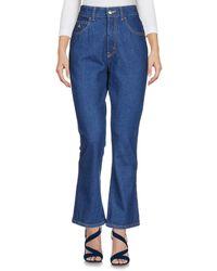 The Attico Denim Trousers - Blue