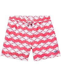 Pink House Mustique Swim Trunks - Pink
