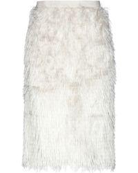 Bruno Manetti Knee Length Skirt - White