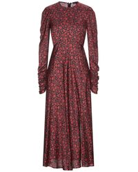 Maje 3/4 Length Dress - Red