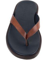 Santoni Toe Strap Sandals - Brown