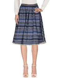 Aglini Knee Length Skirt - Blue
