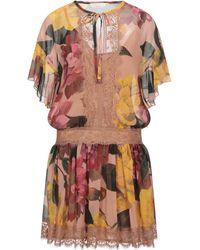 W Les Femmes By Babylon Short Dress - Brown