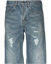 Saint Laurent Denim Shorts - Blue