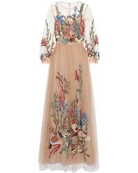 Alberta Ferretti Long Dress - Natural